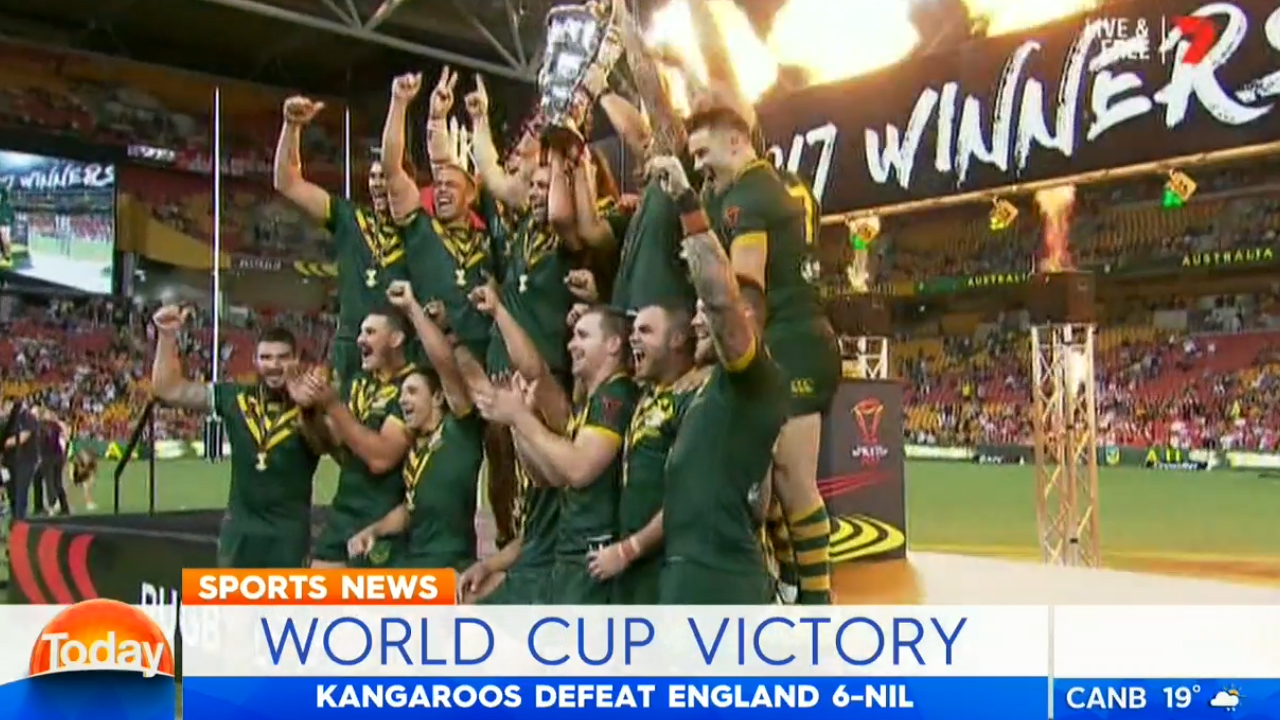 TODAY: Aussies win RLWC