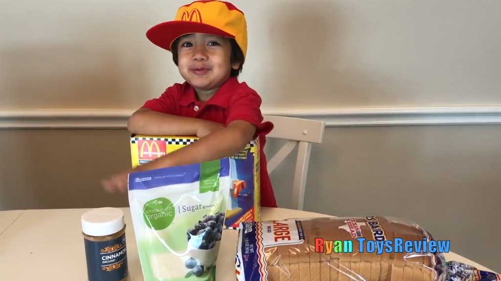 Famous six-year-old YouTuber reviews McDonald's Happy Meal