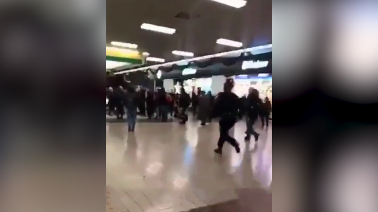 Police run though Port Authority after pipe bomb explosion
