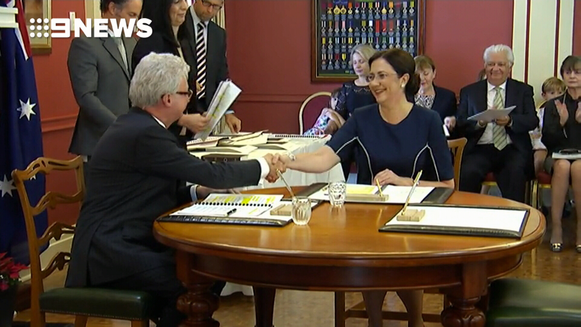 Palaszczuk's new cabinet sworn in