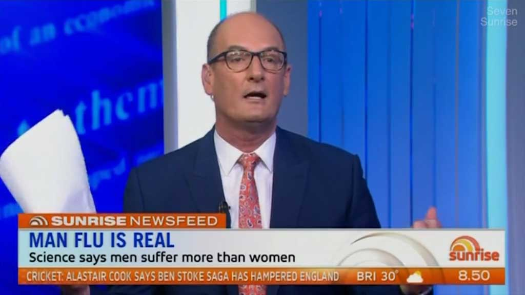 Kochie claims men work harder