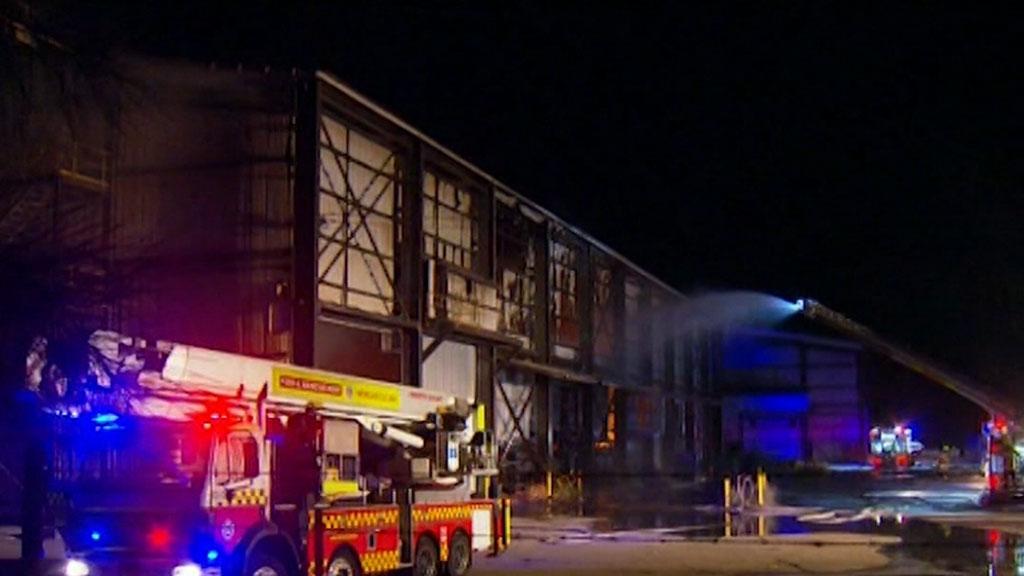 NSW recycling plant blaze