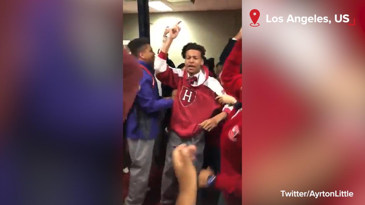 Teen celebrates Harvard acceptance