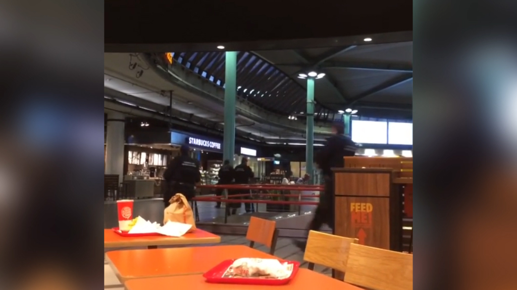 Police shoot armed man at Amsterdam airport