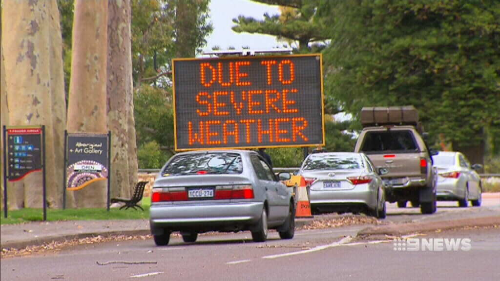 Severe weather bears down on Perth
