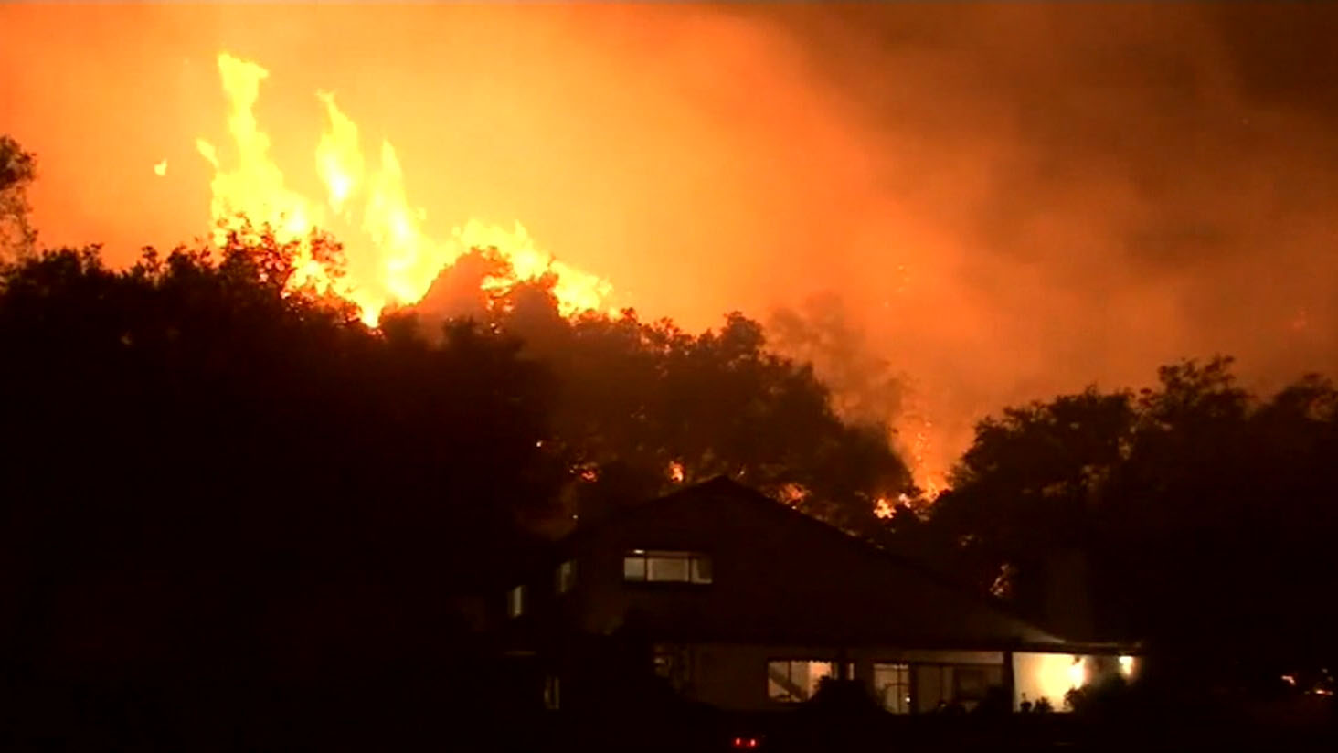 California's third-largest fire rips through state