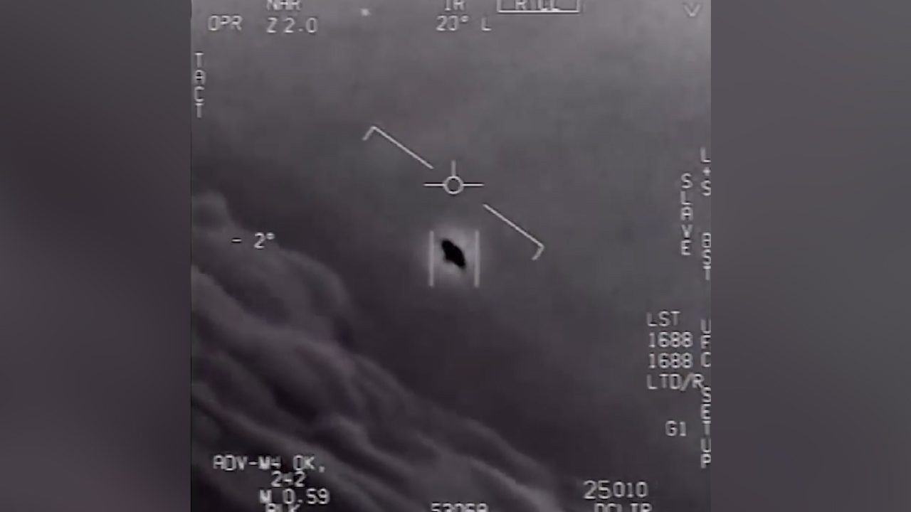 Navy Super Hornet spots 'UFO'