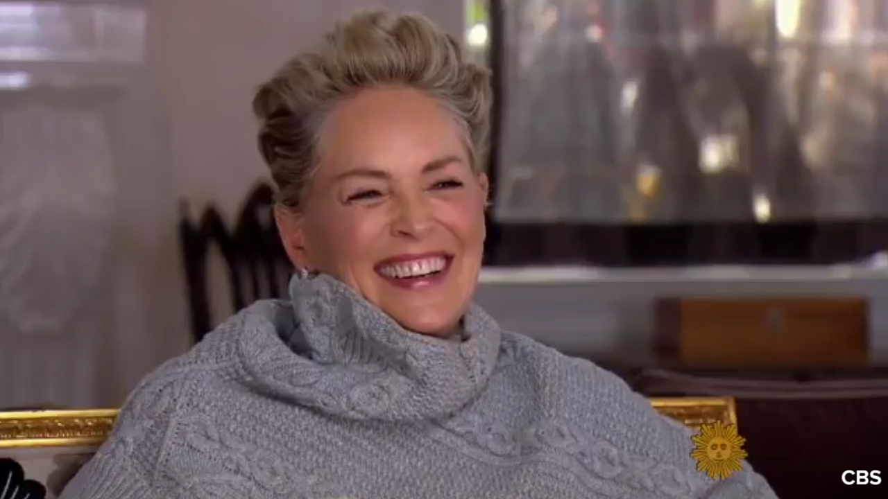 Sharon Stone laughs at sexual harassment question