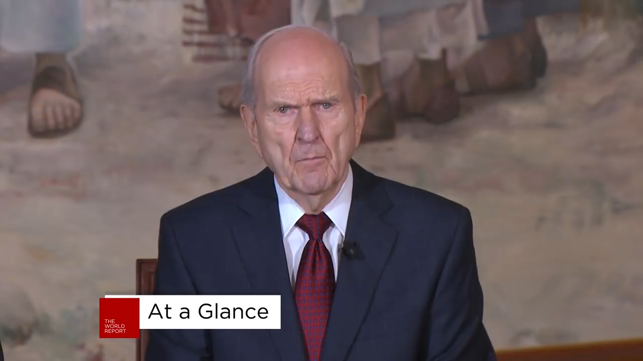 Jesus Christ of Latter-day Saints president speaks to media