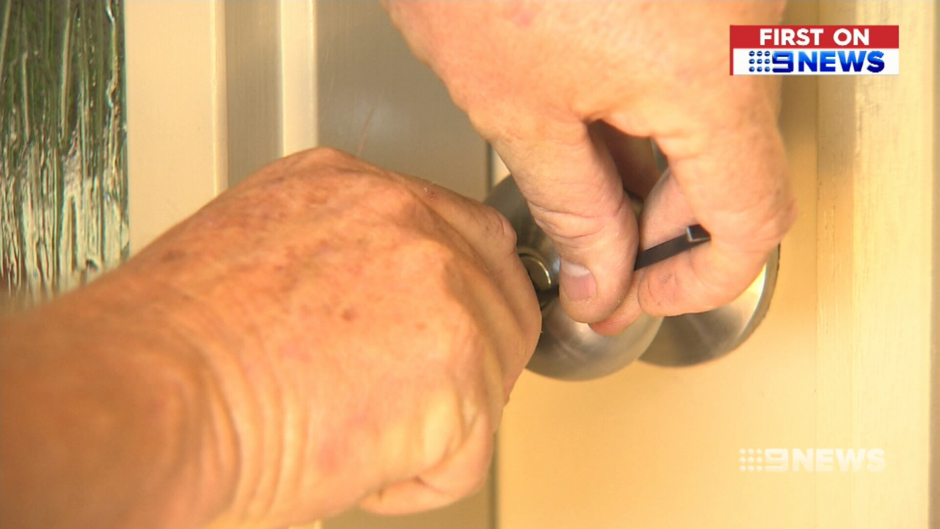 Basic tools being used to pick locks to homes