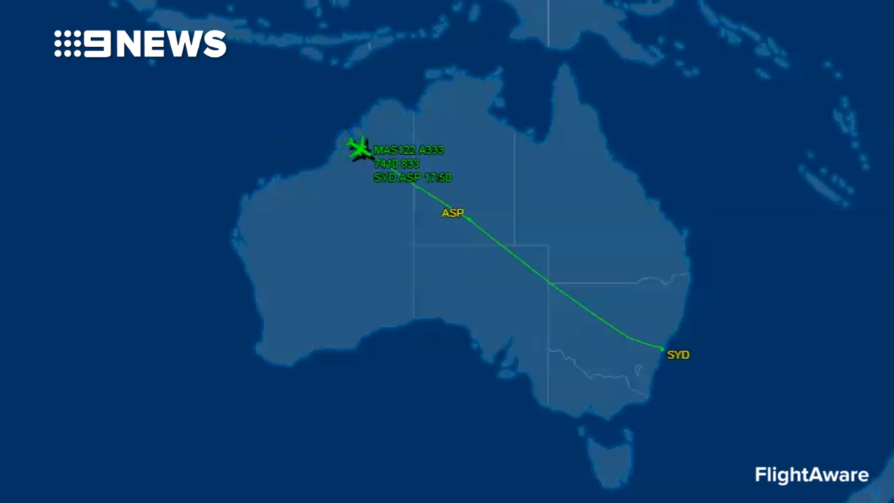 MH122 flight path