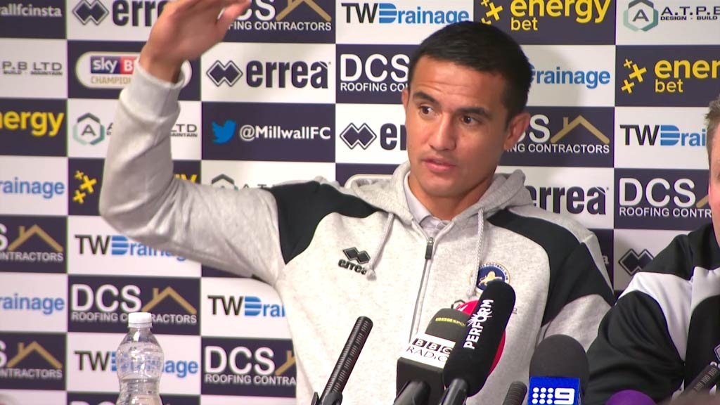 Tim Cahill speaks before debut with Millwall