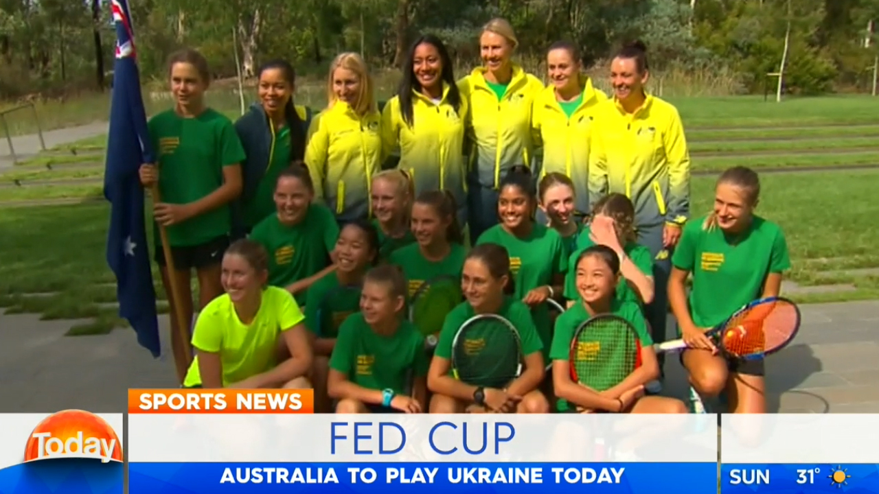 TODAY: Fed Cup kicks off in Canberra