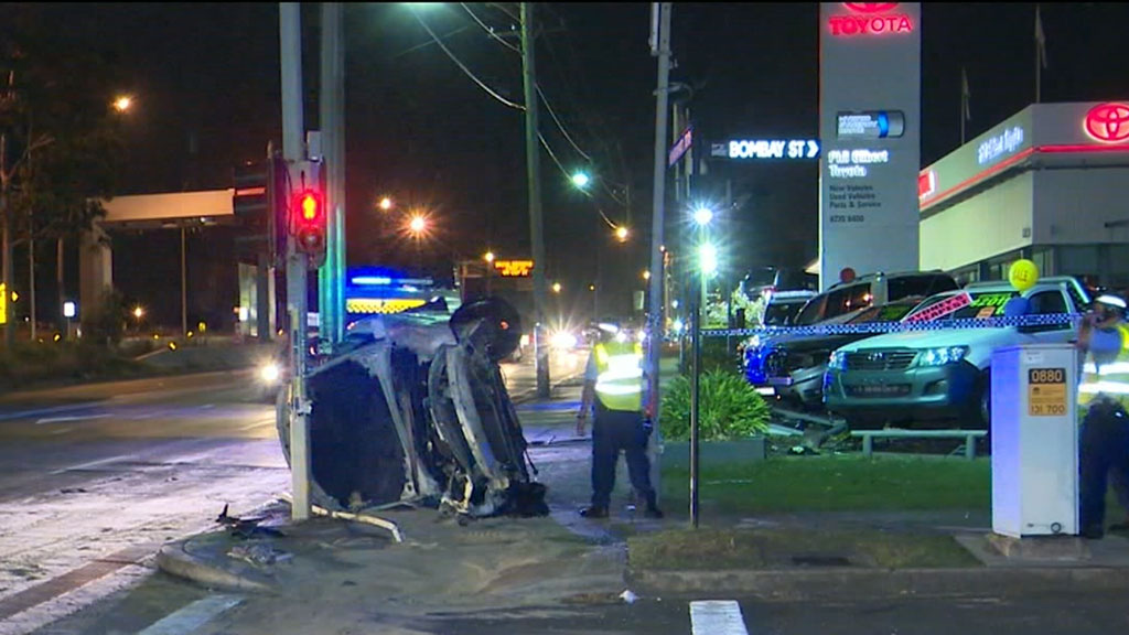 Car pursuit in Sydney's west