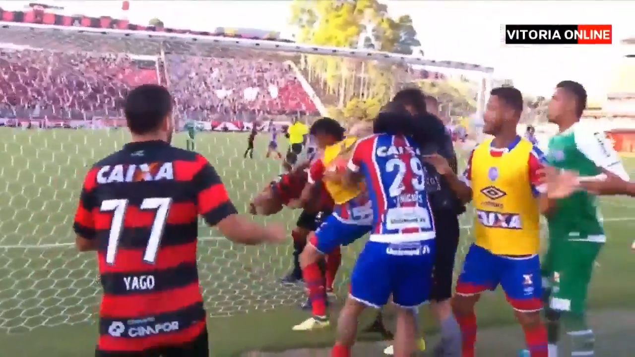 Nine players sent off in red card carnage