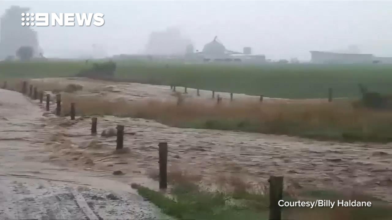 Roads inundated in New Zealand