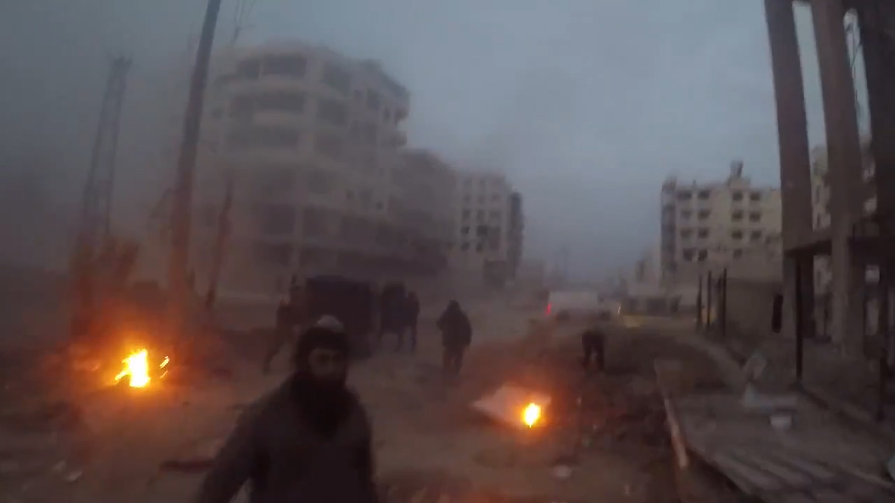 Apparent airstrike narrowly misses Syrian volunteers