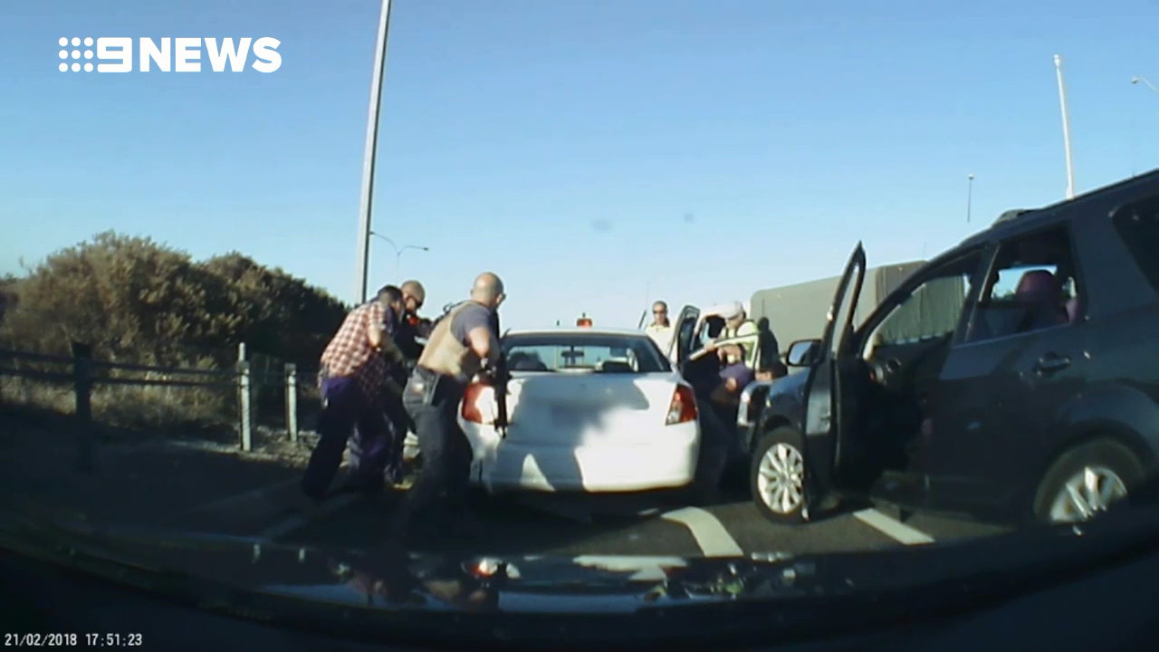 Police make dramatic arrest in peak hour traffic