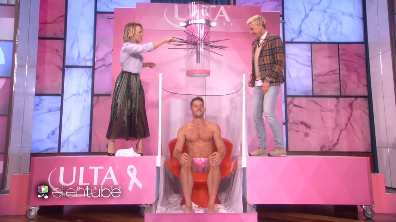 Rachel McAdams and Justin Hartley play 'Oops! My Water Broke' on 'Ellen'