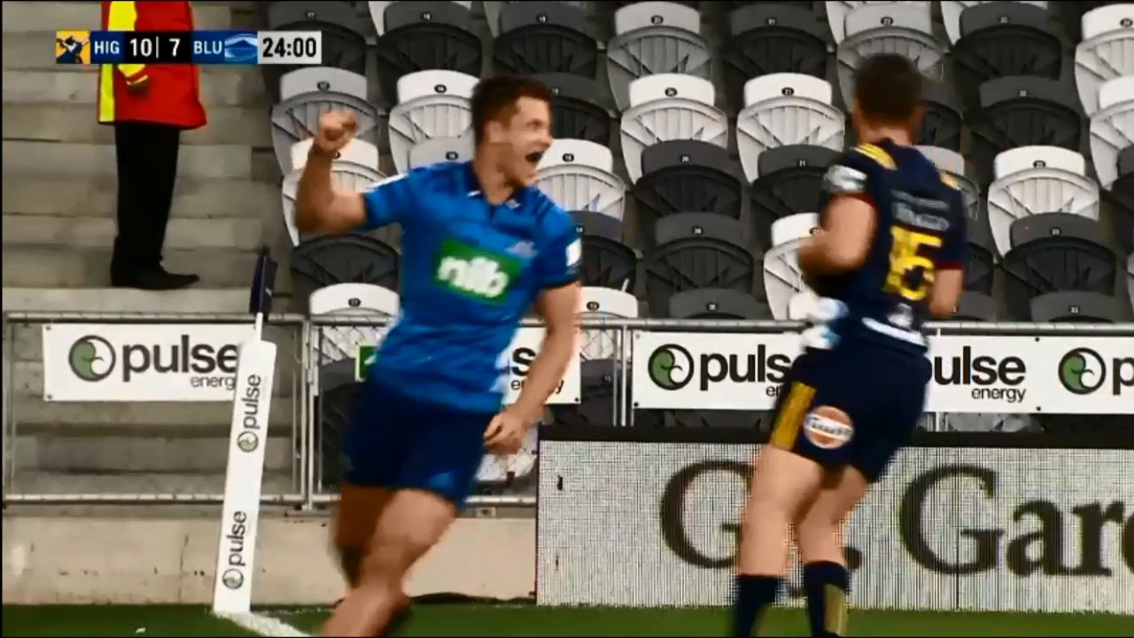 Blues show off silky skills in super try