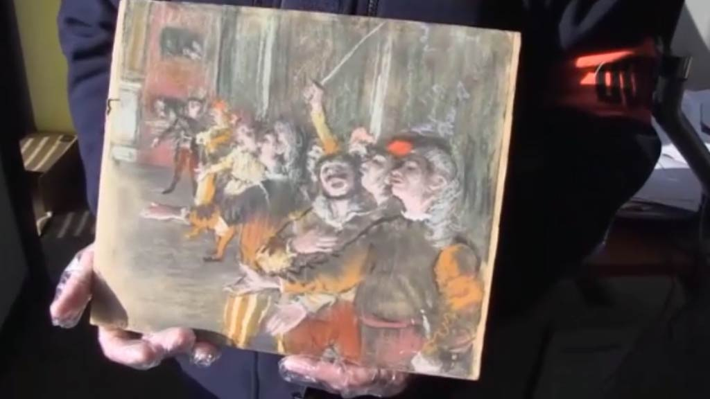 Stolen Degas painting found left on French bus