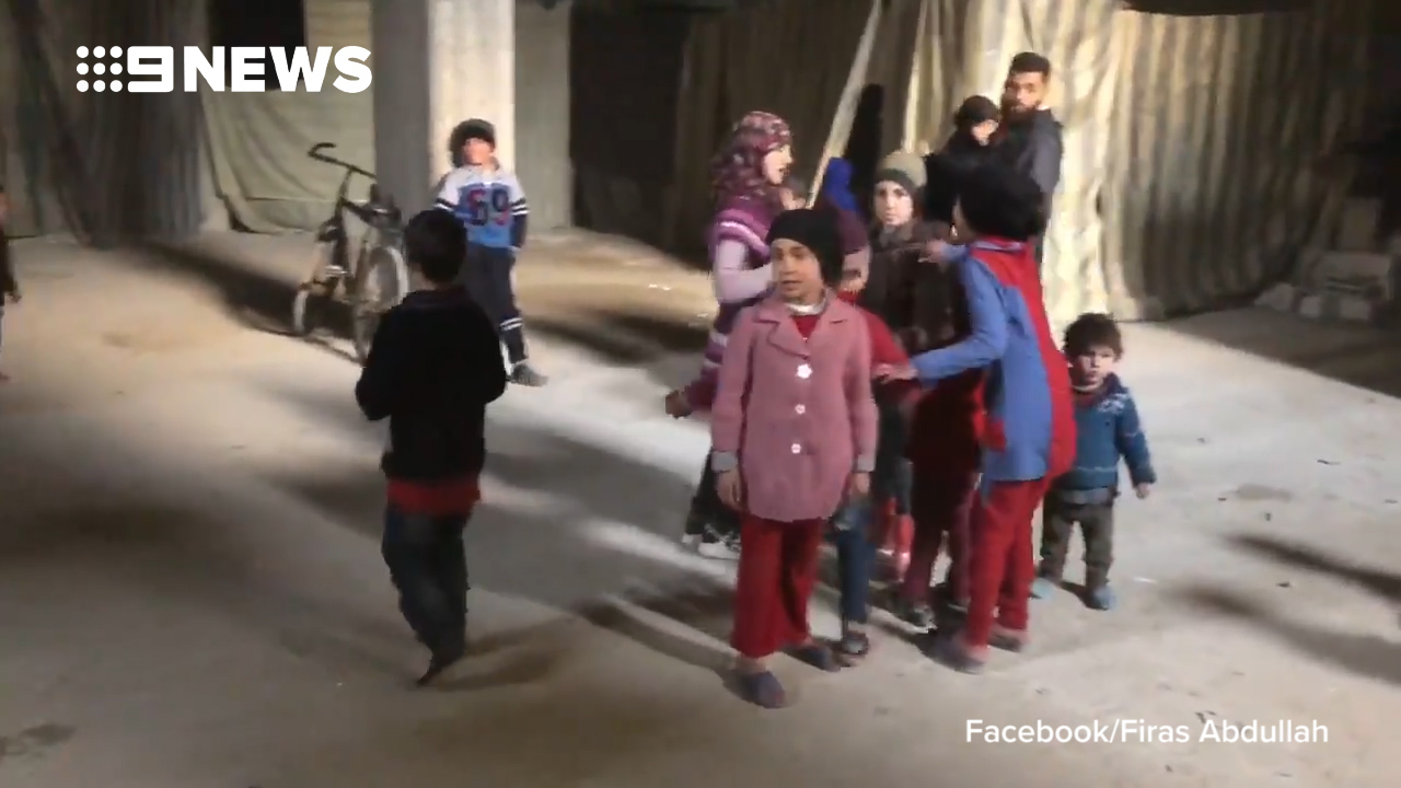Civilians in Syria living in basements to avoid bombs