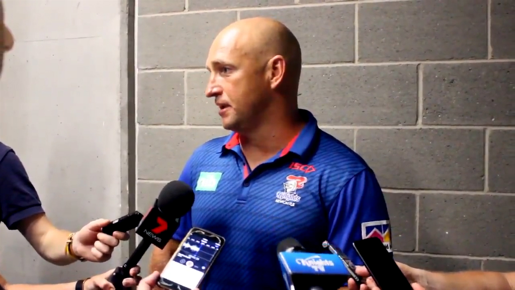 Brown speaks after NRL trial loss to Eels