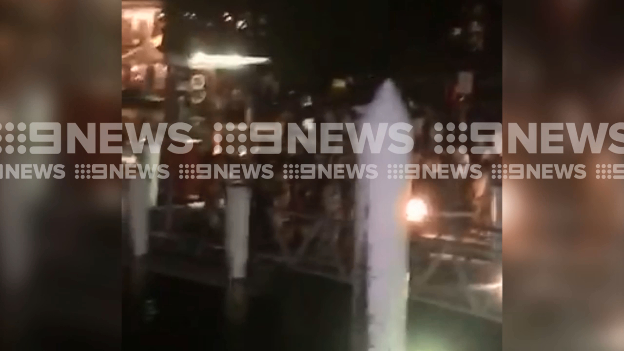 Brawl erupts on party boat in Darling Harbour