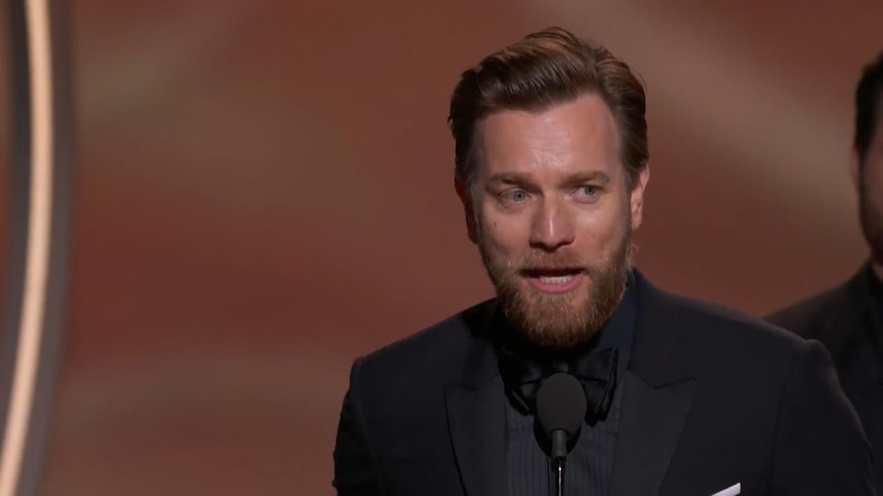 Ewan McGregor thanks both wife and mistress in Golden Globes speech
