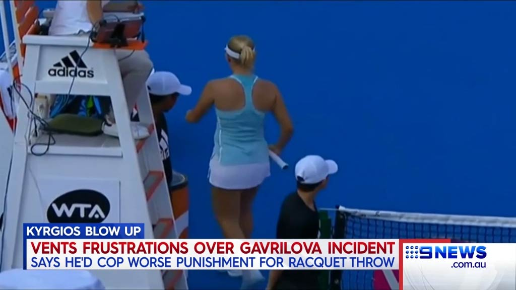 Kyrgios vents frustration at Gavrilova incident
