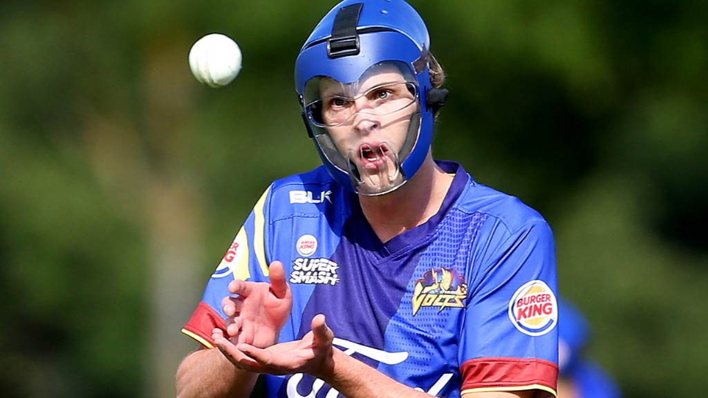 The bowler who wears a full face mask