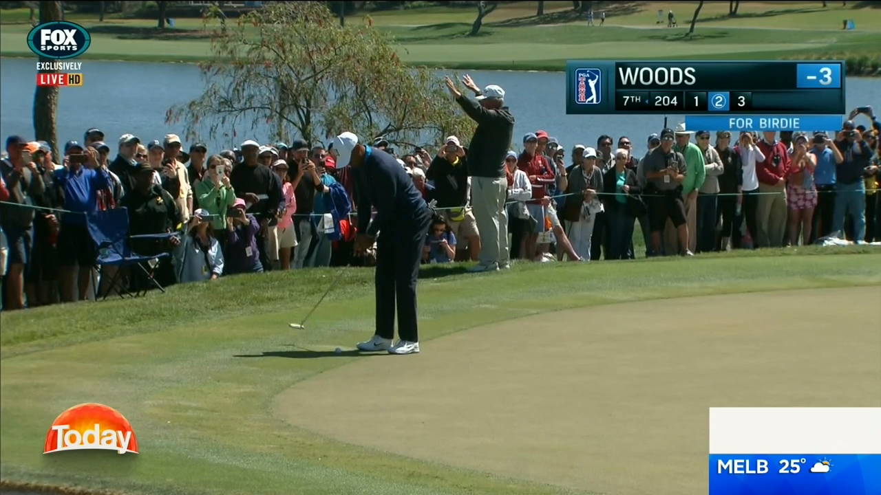 TODAY: Woods sinks 71-foot birdie putt