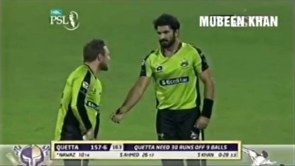 Cricketer pegs ball at own teammate