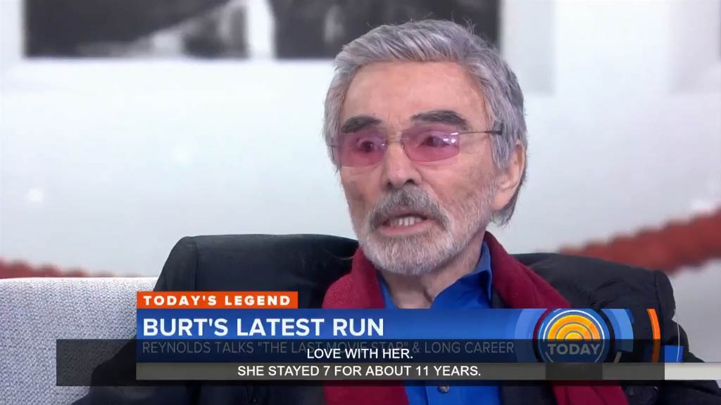 Burt Reynolds says he's loved Sally Field since she was seven years old