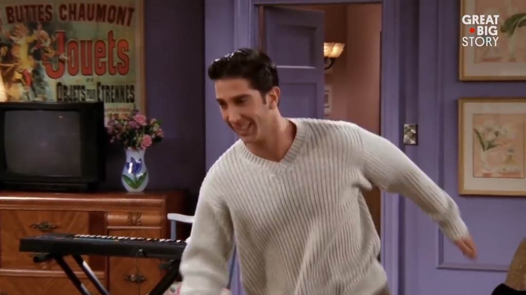 Why Monica Gellar's walls were purple