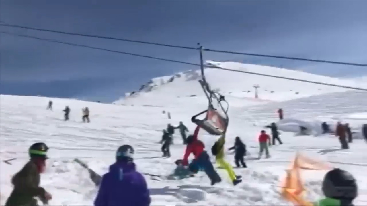 Passengers thrown from malfunctioning ski lift
