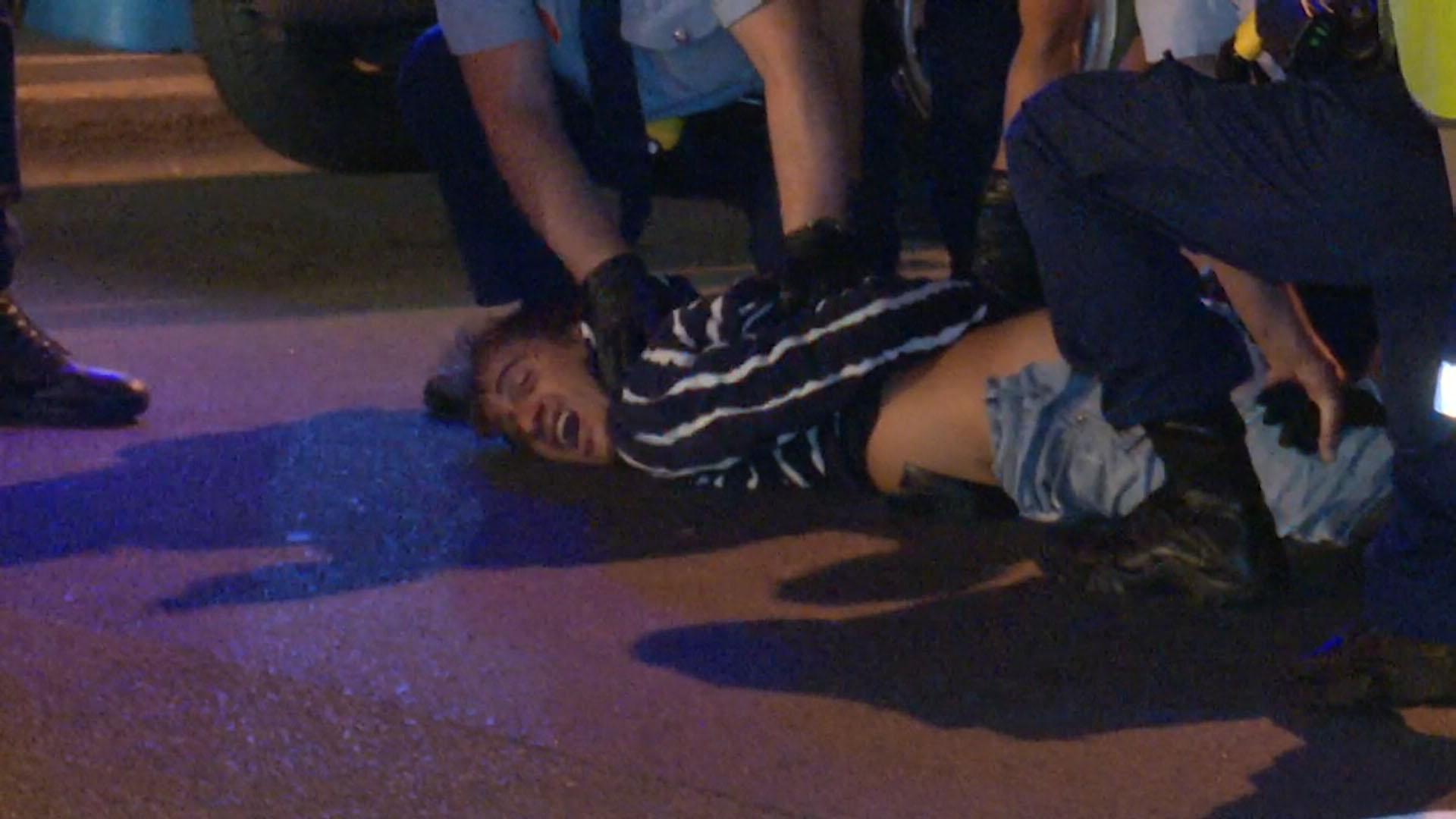 Violent car crash driver sedated by paramedics