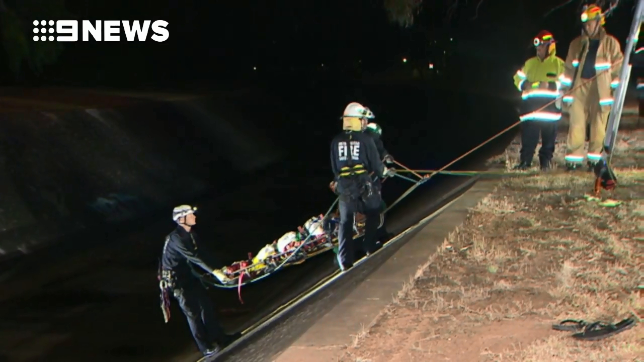 Man arrested after being rescued from storm drain