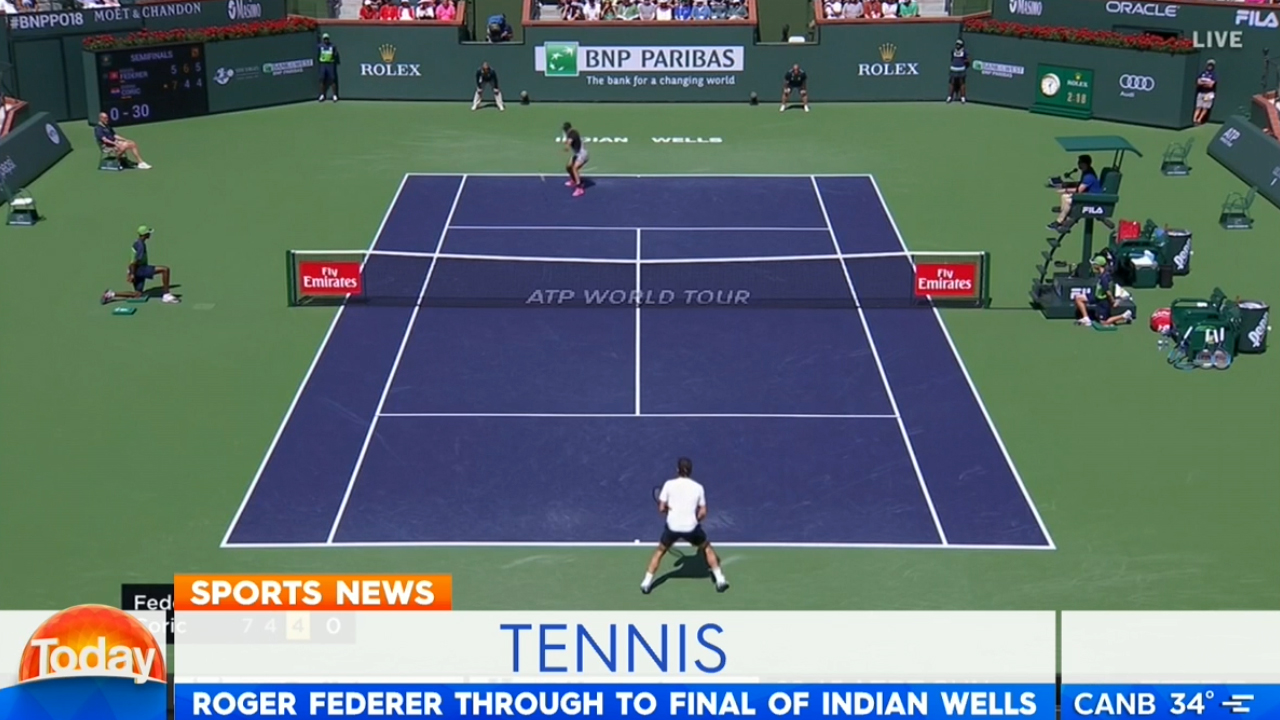 Federer into Indian Wells final