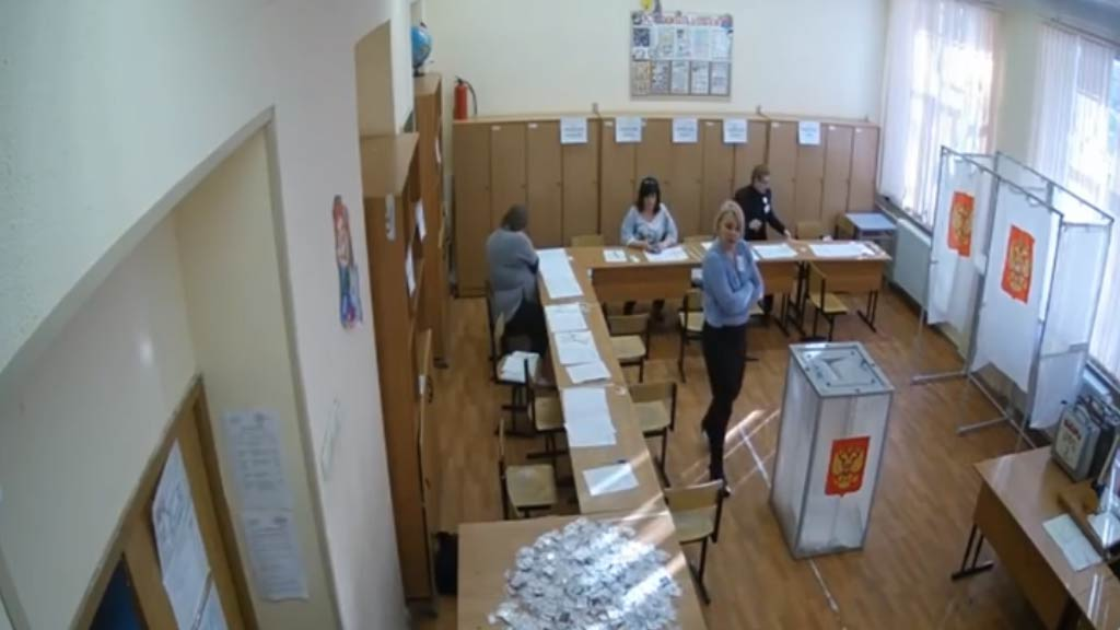 Ballot-box stuffing allegations sweeps Russian election