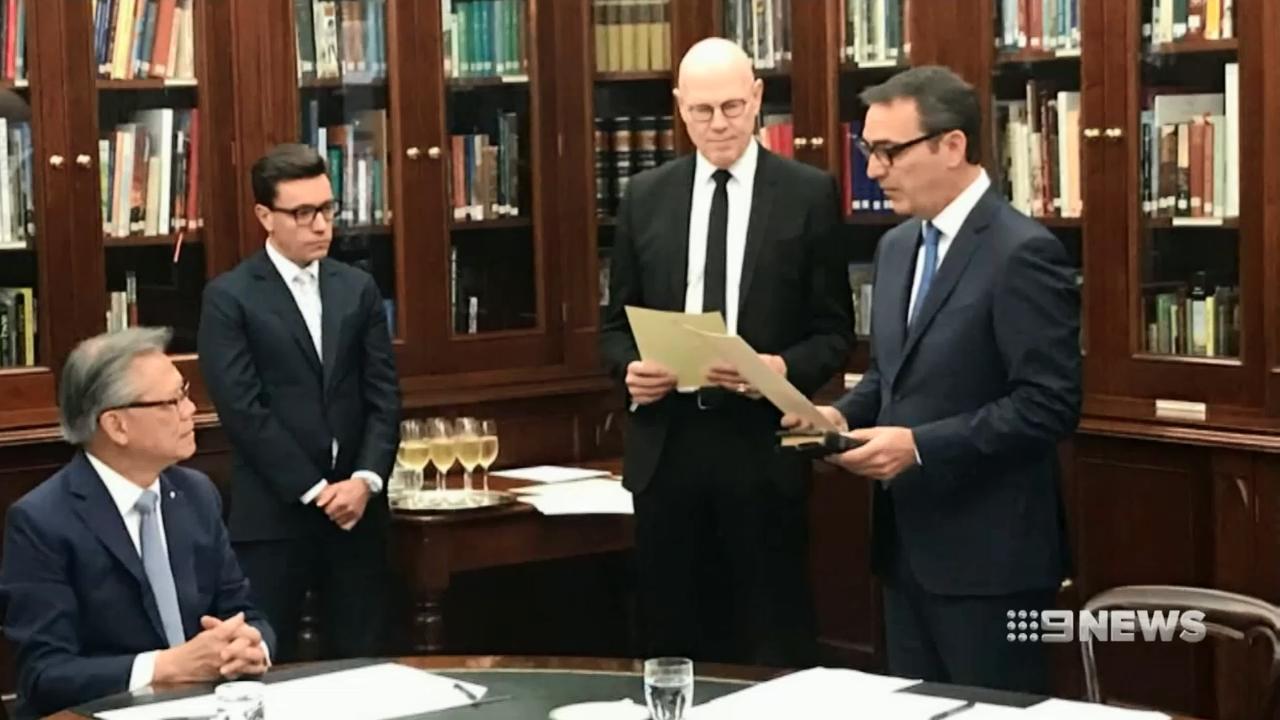 Steven Marshall sworn in as new Premier