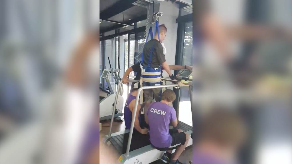 22-year-old paralysed in trampoline accident