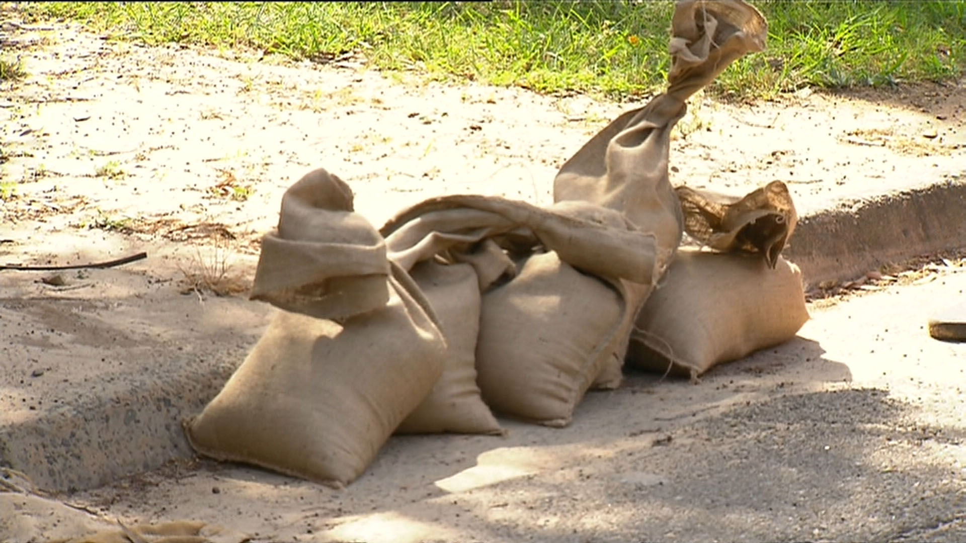 Sandbags distributed ahead of severe weather