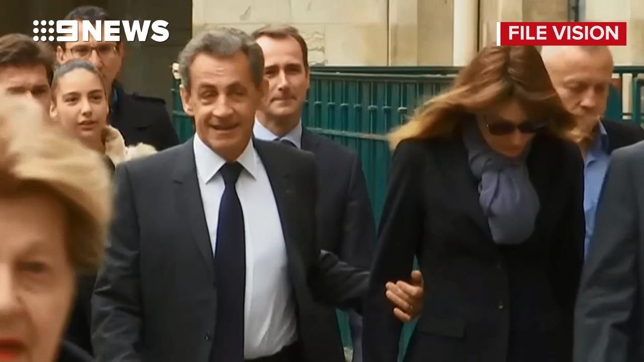 Former French president in police custody