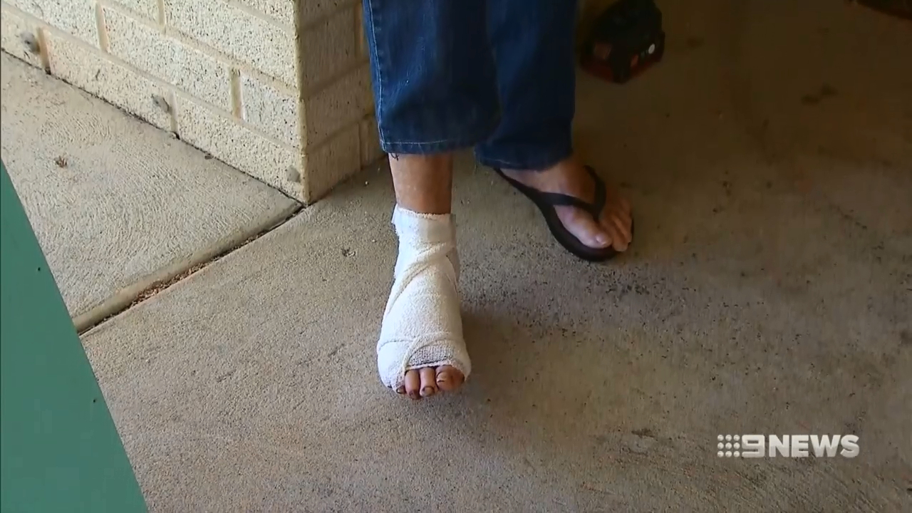 Elderly man left with broken foot after home invasion