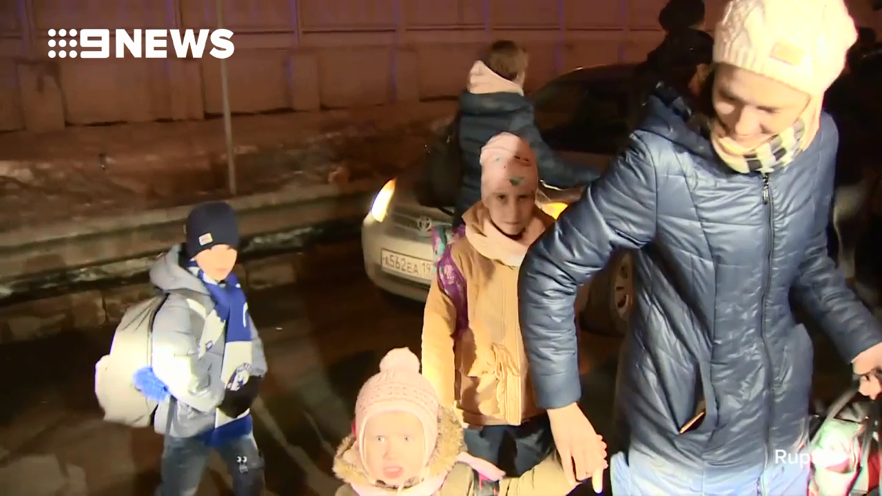 Russian diplomats arrive home
