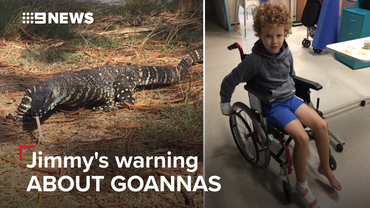 Jimmy's warning about goannas