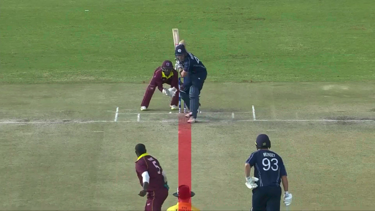 Controversial wicket costs Scotland against West Indies
