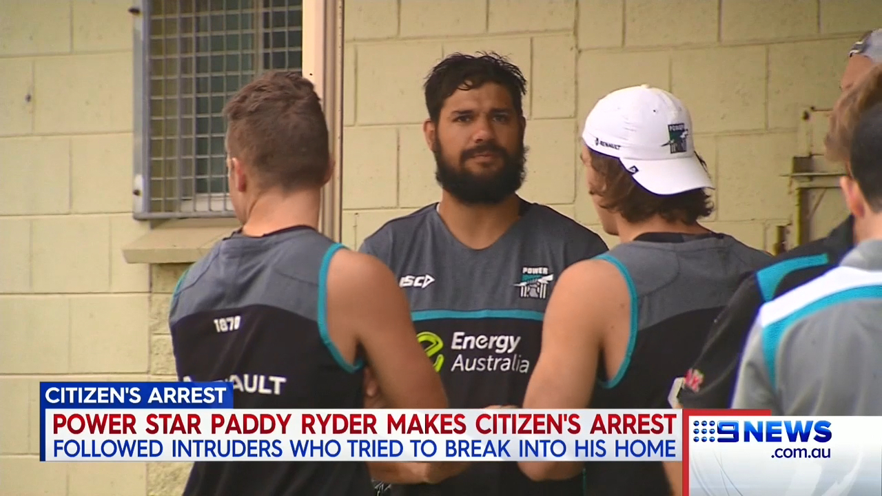 Ryder the hero in home invasion