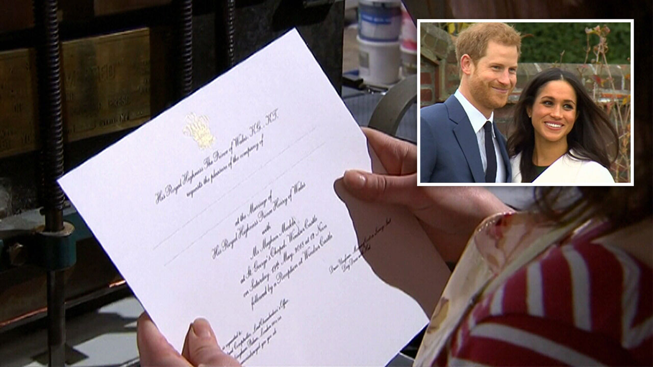 Prince Harry and Meghan Markle's wedding invitations sent